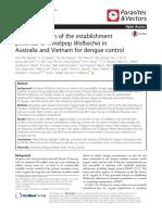 Field Evaluation of the Establishment Wolbachia Project in Vietnam