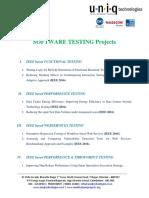 Testing IEEE 2016 Project List