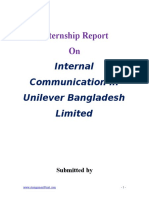 Report on Internal Communication in Unilever Bangladesh Limited