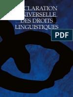 Declaration Universelle Des Droits Linguistiques