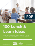 130 Lunch Learn Ideas