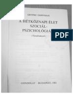 Goffman - A Hetkoznapi Elet Szocialpszichologiaja