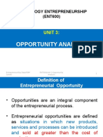 Unit 3 (Opportunity Analysis)