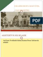 Arsitektur Klasik Eropa Abad Xviii, Xix v,