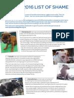 SPCA List of Shame 2016