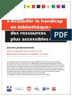 Accueillir lehandicap enbibliothèque