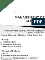 Management of Glaucoma