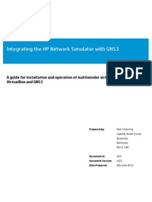 Integrating the HP Network Simulator with GNS3 v 0 5 pdf