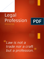 Legal Profession Report - Intro
