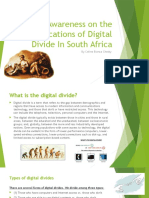 Awareness on the Ramifications of Digital Divide by Celine Bianca Chetty