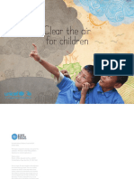 Pollution de l'air et mortalité des enfants - Rapport du 30 octobre 2016 de l'Unicef