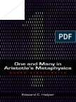 Aristoteles._ Aristotle._ Halper, Edward C._ Aristotle-One and Many in Aristotle's Metaphysics. _ Books Alpha-Delta-Parmenides Publishing (2009)