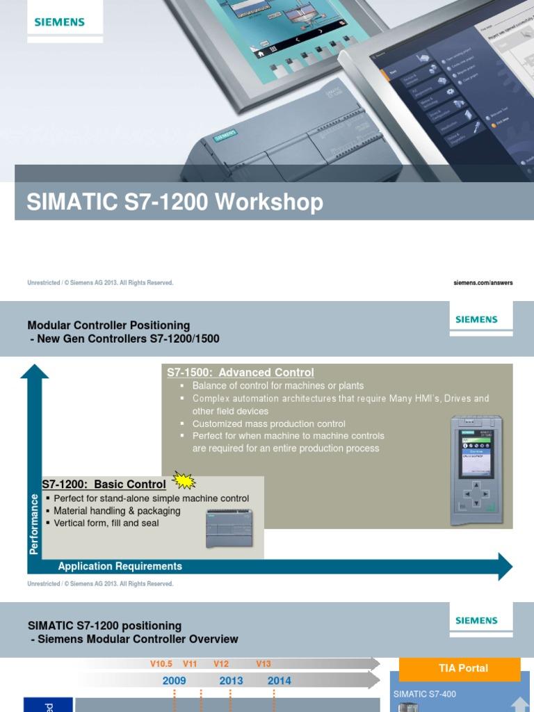 Simatic s7 1200 workshop 2016 programmable logic controller simatic s7 1200 workshop 2016 programmable logic controller central processing unit fandeluxe Images