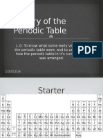 1. History of the Periodic Table