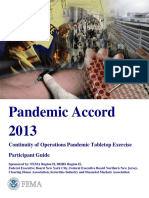 FEMA - Pandemic Accord 2013 Continuity of Operations Pandemic Tabletop Exercise Participant Guide.pdf
