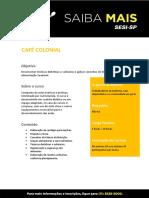 Culinária e Nutrição - Café Colonial