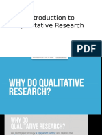 Introduction to Qualitative ResearchMBA