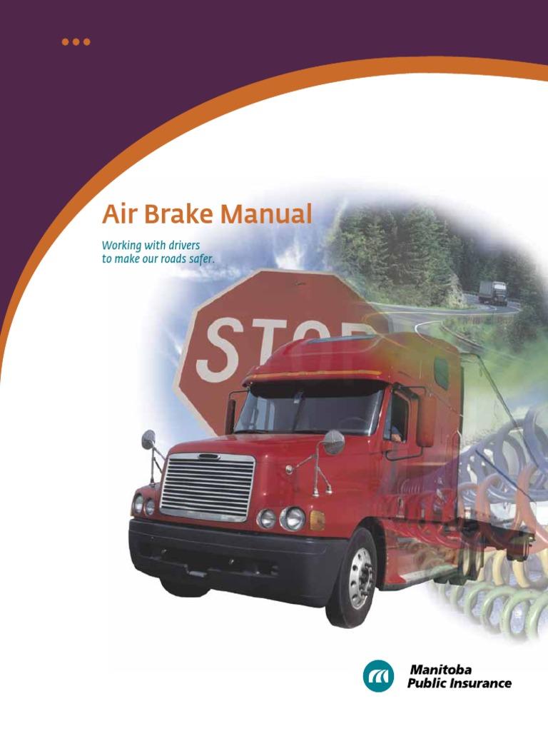 air brake system manual brake gas compressor