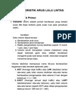 Karakteristik Arus Lalu Lintas (2)
