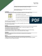 Formulaes in Excel