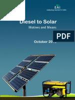Diesel to Solar EAI