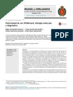 Enfermedad de Von Willebrand, Biología Molecular- México- 2015