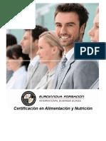 Certificación en Alimentación y Nutrición