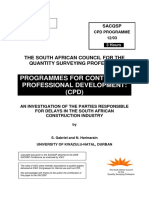 An Investigation of the Parties Responsible for Delays in Sa Construction Industry