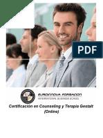 Certificación en Counseling y Terapia Gestalt (Online)