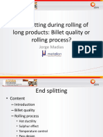 End Splitting During Long Products Rolling - Billet Quality of Rolling Process