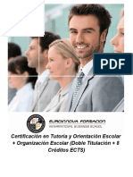 Certificación en Tutoría y Orientación Escolar + Organización Escolar (Doble Titulación + 8 Créditos ECTS)