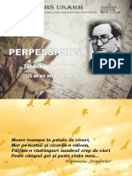 """Perpessicius """"Tăbăcit de suferinţă``"""