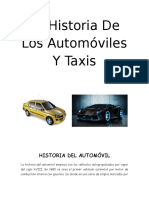 La Historia de Los Automóviles Y Taxis