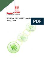 SIMCom 3G MQTT Application Note V1.00