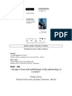 FARIA, Felipe-Georges Cuvier and establishment of the paleontology as a science(presentation in  lecture).pdf