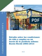 Cuadernos monográficos N° 4 Barrio Nicole