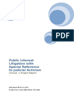 Public Interest Litigation With Special Reference to Judicial Activism(Project)