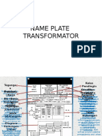Name Plate Trafo