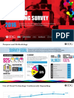 IDG 2016 Cloud Computing Survey