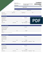 Landlord Information Sheet