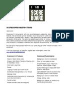 Scoreboard Instructions