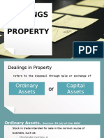 dealings in property-income taxation