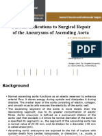 Current Indications to Surgical Repair of the aneurysma of acending aorta