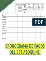 Cronograma de Pagos Gorgoritos