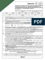 Ibge0216_prova_agente de Pesquisas e Mapeamento - Gabarito 1