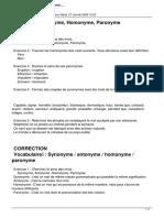 Les Synonymes Les Antonymes