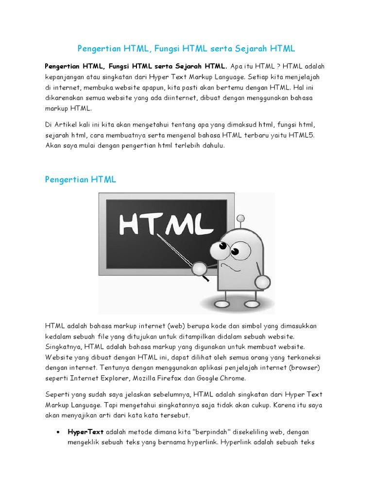 pengertian html dan xhtml