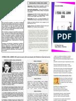 Tríptico I Feria del libro 2016 IES Federico García Lorca