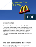 The Mcdonald's Way Case Study