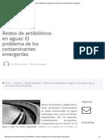 Restos de Antibióticos en Aguas